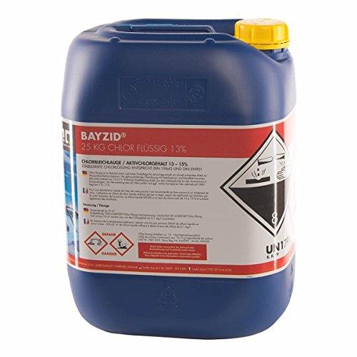 1 x 25 kg chlor fl ssig mit 13 bis 15 aktivchlorgehalt wasserdesinfektion f r pools. Black Bedroom Furniture Sets. Home Design Ideas