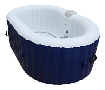 AQUAPARX Whirlpool AP 550SPA *oval 190x120cm* Pool 2Personen Wellness Jacuzzi  Spa Whirlpoolzubehör Badewanne 2P Wanne Indoor Outdoor Heizung Aufblasbar  ...
