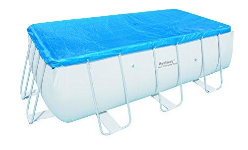 bestway abdeckplane f r frame pools 404x201x100cm und 412x201x122cm gartenpool. Black Bedroom Furniture Sets. Home Design Ideas