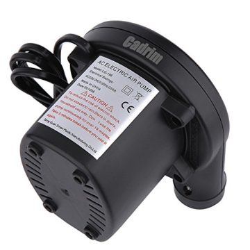 Cadrim Elektrische Luftpumpe,Elektropumpe inkl. 3 Aufsätze