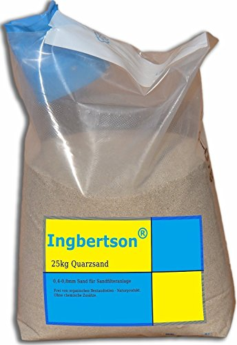 ingbertson 25kg quarzsand 0 4 0 8mm sand f r sandfilteranlage gartenpool. Black Bedroom Furniture Sets. Home Design Ideas