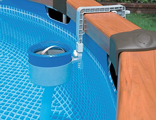 Intex wall mount skimmer grau blau 28000 gartenpool for Gartenpool test 2017