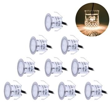 Hervorragend Terrassen Einbaustrahler/ LED Einbaulichter Set 10er Wasserdichte  KN02